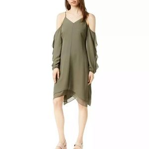 NWT BarIII Womens Cold Shoulder Asymmetrical Dress